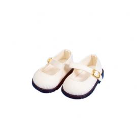 Schildkröt Puppenkleidung weiße Velour Schuhe für 56 cm Puppen mit 8 cm langen Füßchen, 56178 - Bild vergrößern