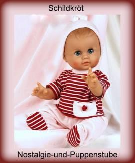 Schildkröt Puppenkleidung, Nickianzug mit Ringelshirt, für 45 cm Puppen  - Bild vergrößern