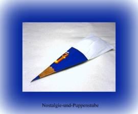 Schildkröt Puppenzubehör Schultüte blau Zuckertüte für 35 - 50 cm Puppen, Nr. 1010 - Bild vergrößern