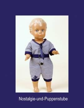 Schildkröt Puppenkleidung, Badeanzug Oldfashion, für 34 cm Puppen   - Bild vergrößern
