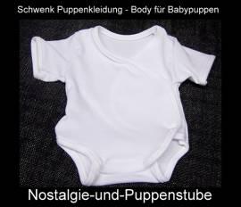 Schwenk Puppenkleidung, Body, weiß, für 30 bis 33 cm große Babypuppen  - Bild vergrößern
