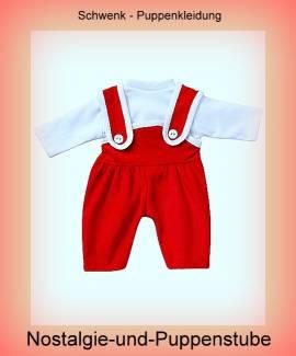 Cordanzug mit Langarm-Shirt für 30 - 33 cm Puppen - Bild vergrößern