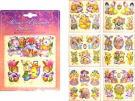Ostern Oster Sticker mit Glimmer Glitzer und Mini Perlen - Bild vergrößern