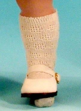 Puppen Strümpfe Socken Kniestrümpfe beige für 41cm Puppen Schildkröt, Nr. 41173 - Bild vergrößern