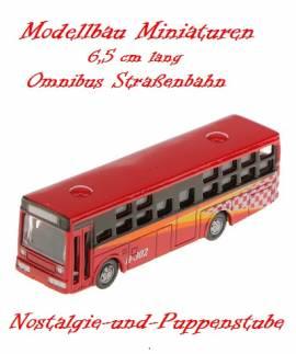 Miniaturen Modellbau Eisenbahn Omnibus Bus Straßenbahn 6,5 cm lang 5700 rot - Bild vergrößern