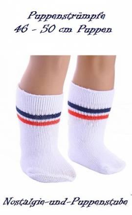 Puppen Kleidung Strümpfe Socken weiß für 45 cm Puppen 667 - Bild vergrößern