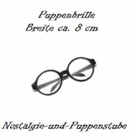 Puppenzubehör Puppen Brille schwarz 8 cm breit, Nr. 7993 - Bild vergrößern