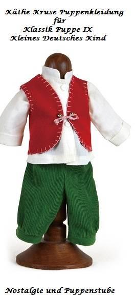 Käthe Kruse Puppenkleidung für die klassische Puppe IX Junge Modell Landhaus, Nr. 35951 - Produktbild