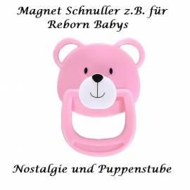 Puppen Zubehör Magnet Schnuller rosa für Reborn Babys, Nr. 1007  - Bild vergrößern