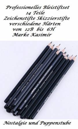 Bleistiftset 14 Teile Zeichenstifte Skizzierstifte verschiedene Härten, Nr. 296 - Bild vergrößern