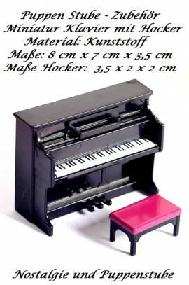 Kleinspielsachen Deko Miniatur Musik Instrument Klavier, Nr. 483 - Bild vergrößern