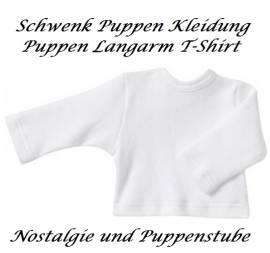 Schwenk Puppenkleidung Langarm Shirt weiß für 46 - 50 cm große Babypuppen, Nr. 69750  - Bild vergrößern