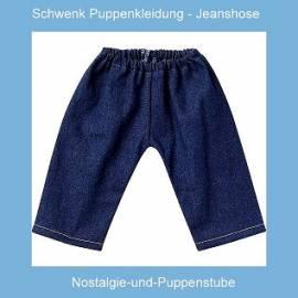 Schwenk Puppen Kleidung Jeanshose dunkelblau für 42 - 45 cm Puppen, 87643 - Bild vergrößern