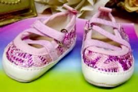 Puppen Schuhe Ballerinas pink Glitzer für Puppen von 38 - 45 cm Heless,  845  - Bild vergrößern