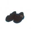 Schildkröt schwarze Velourschuhe für 49 cm Puppen