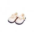 Schildkröt weiße Velourschuhe für 49 cm Puppen