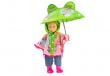 Heless Puppenkleidung Puppen Regencape mit Regenschirm für 28 cm - 35 cm Puppen