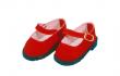 Puppen Kleidung rote Velourschuhe für 41 cm Puppen Schildkröt 41178