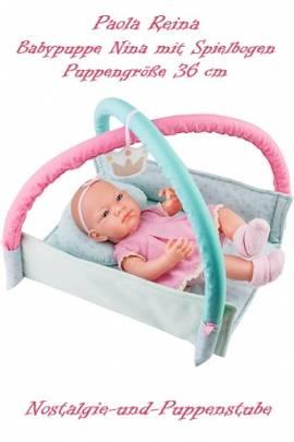Baby Puppe Spielpuppe Nina 36 cm mit Spielbogen Paola Reina 5019