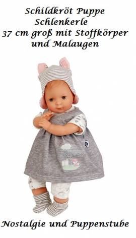 Spielpuppe Babypuppe Schildkröt Puppe 37 cm Schlenkerle 6837858