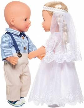 Heless Puppen Kleidung Bräutigam Outfit 4teilig für 35 - 45 cm Puppen, Nr. 2021