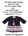 Schildkröt Puppen Kleidung Kleid mit Jacke dunkelblau für 34 cm Puppen, Nr. 34747