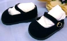 Puppen Schuhe Puppen Velour Schuhe 5 cm lang für 34 cm Puppen Schildkröt, Nr. 34178