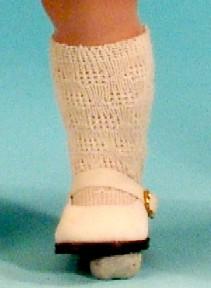 Schildkröt Puppenkleidung für 34 cm Puppen, beige Kniestrümpfe für 34 cm Puppen
